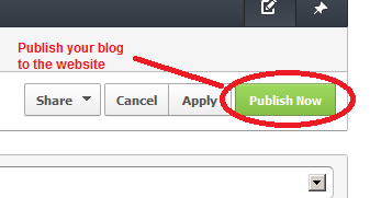 blog publish