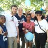 <p>The walking team before the long walk, Vicky's grandson,Darius Powell(12),V.s son,Chris Moraitis,Karen Lontka,V's granddaughter,Te'a Powell(11), & Rosemary Lontka</p>